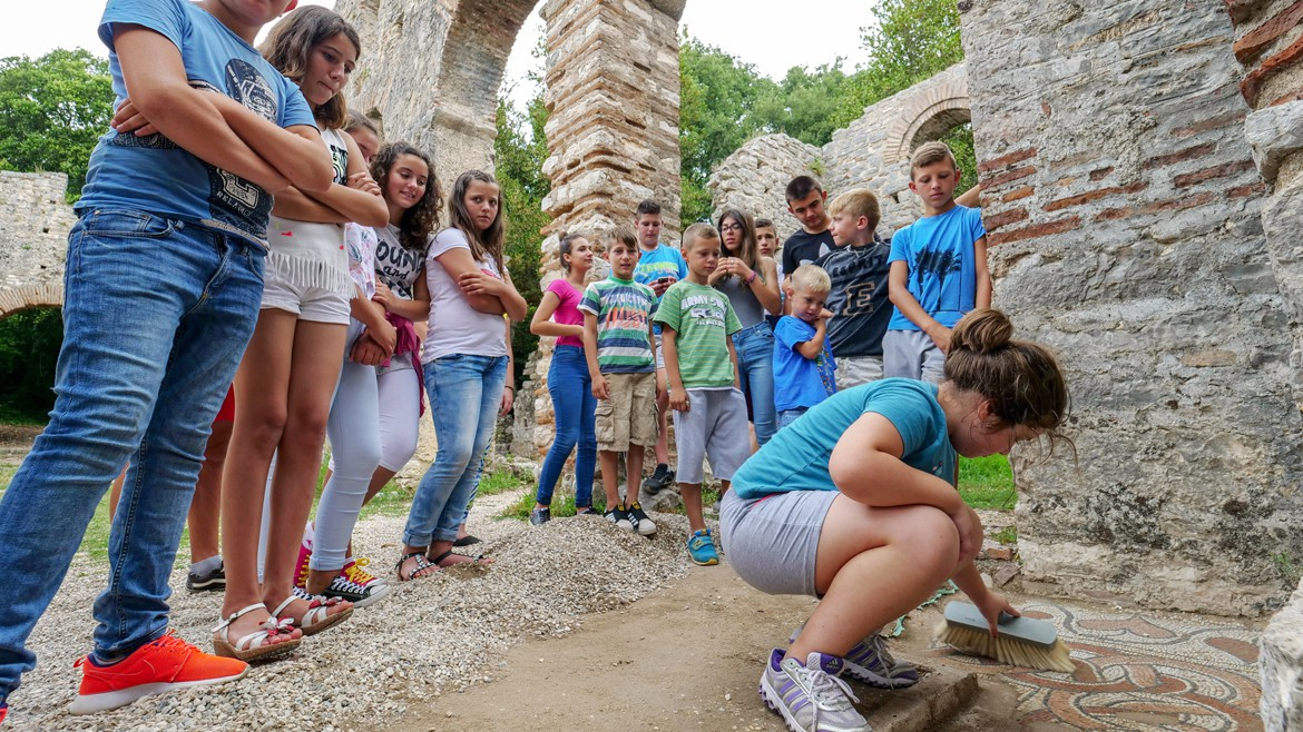 Education through culture at Butrint
