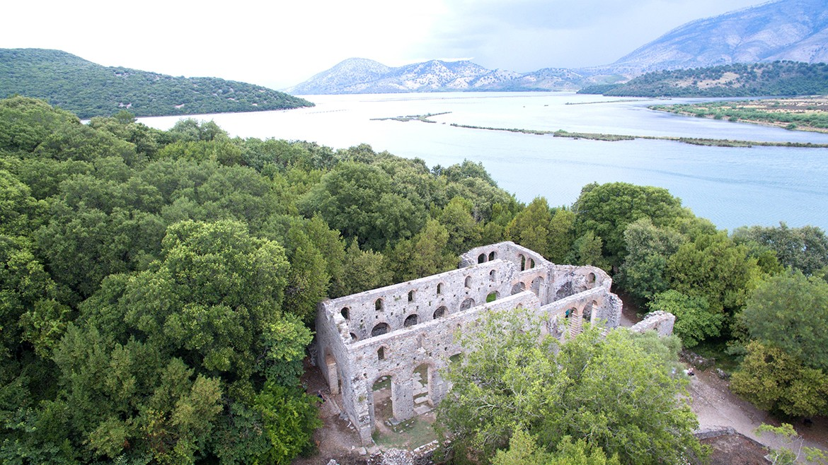View from the Great Basilica in Butrint World Heriate Site