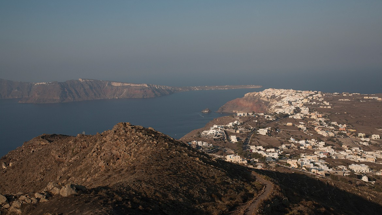 Volcanic terrain of Santorini
