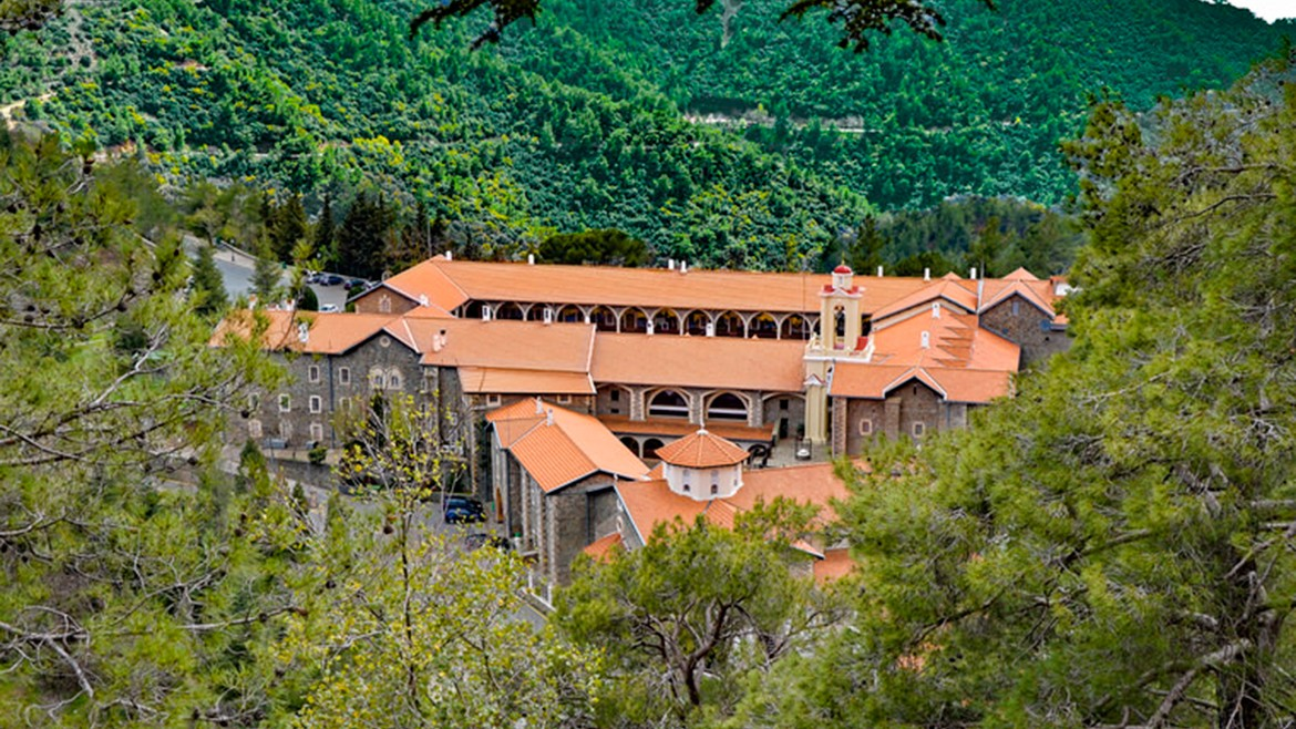 The Kykkos Monastery in Paphos Forest