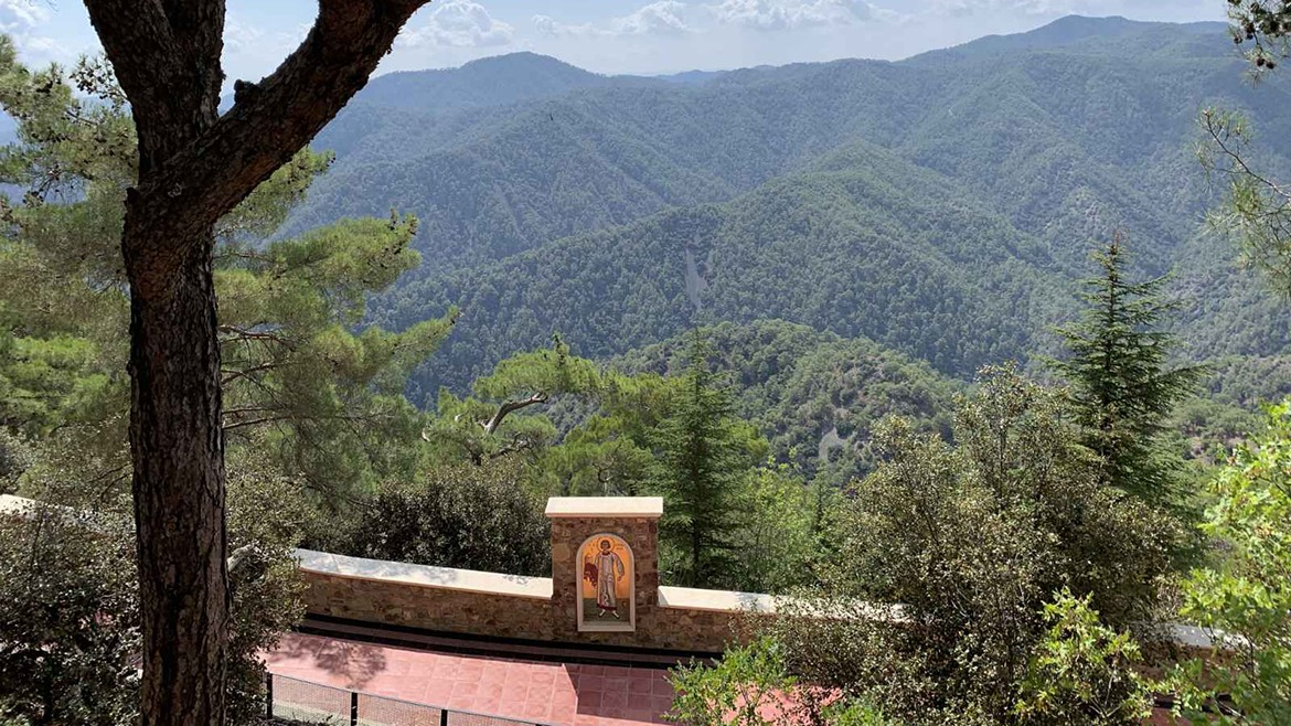 View to Paphos forest from Kykkos monastery